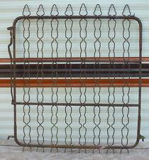 36 x 40 Vintage Iron Fence Gate garden yard entryway chain link finial metal