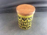 Vintage Hornsea Heirloom Green Nutmeg Spice Pot Jar 1960s Retro Clappison 60s