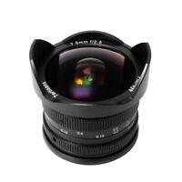 New 7artisans 7.5mm F2.8 F2.8-22 Fisheye lens for Sony E-mount Cameras (Black)