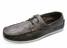 MENS LEATHER LACE-UP MOCCASINS LOAFERS DRIVING COMFY BOAT DECK SHOES SIZES 7-11