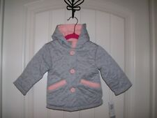 NEW! QT BABY QUILTED HEART DESIGN GIRLS  JACKET SIZE 12 MONTHS RETAIL $44