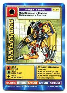 St-84 WarGreymon Digimon Swedish Promo Card TCG Rare Digi-Battle Bandai LP/PL