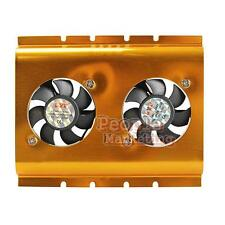 P4PM 3.5 Inch Dual Cooling Fan Hard Disk Driver HDD Cooler for PC SATA IDE