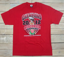 New Wisconsin Badgers 2012 Rose Bowl Champions Short Sleeve Red T-Shirt Size L