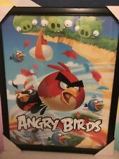 """Angry Birds Wall Picture With Frame Aprox 21.4 """"X 17.4"""""""