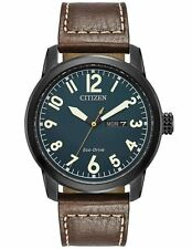 Citizen BM8478-01L Mens Eco-Drive Leather Strap Day/Date 42mm Watch