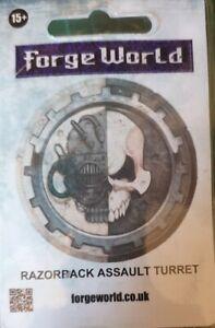 Forgeworld Razorback Assault Cannon Turret Space Marine Warhammer 40K