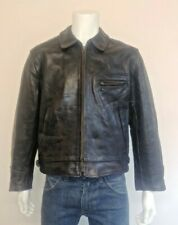 Aero Vintage Highwayman Front Quarter Horsehide Leather Jacket. Made in Scotland
