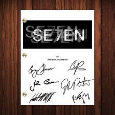 Seven Se7en Autographed Signed Movie Script Reprint Brad Pitt Morgan Freeman