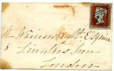 1851. cover from Uxbridge to London, 1841 1p red on bluish paper