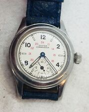 Rolex Oyster Commander Antique WW2 Manual Wind Military Stainless Steel Watch