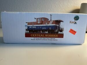 HO Scale Kaslo Shops BC Rail Wide Vison Caboose Kit HK-20