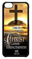 """Bible Verse Philippians 4:13 """"I Can Do""""  Case  for iPhone 4 4s 5 5s 5c 6  Plus"""