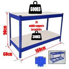 500kg Heavy Duty Metal Work Bench Garage Workshop Table Workbench Station S247
