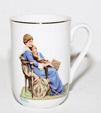 Norman Rockwell Museum Collectible Coffee Tea Cup Mug Bedtime 1982