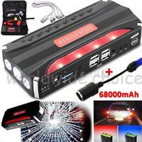 68800mAh Voiture Jump Starter Power Bank Chargeur Démarrage Puissance Batterie