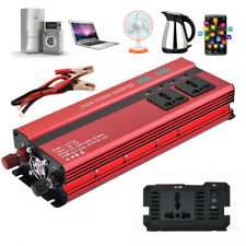 Car Power Inverter Converter 2000 Watts Peak With LCD Display USB Ports Charger