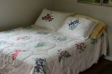 KING Cotton Floral Comforter 3 Pc Set