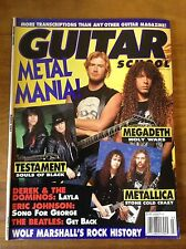 GUITAR SCHOOL MAGAZINE March 1991 Megadeth <> Metallica <> Testament <> Beatles