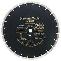 "Diamond Cutting Disc 14"" x 20 mm 350 mm x 20 mm - 10 mm Segment Flex Plate Blade"