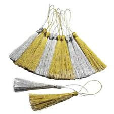 30pcs 13cm Luxury Silky Tassels Crafts Sewing Decoration Costume Gold&Silver
