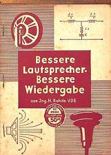 Bessere Lautsprecher bessere Wiedergabe Rohde Lehrmeister Bücherei Selbstbau
