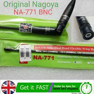 Newest Version! Original Nagoya NA-771 Dual-Band Flexible Antenna BNC 2Way Radio