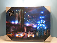 Lighted Canvas Wall Art-New York Scene-By Westland-New In Box