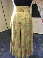 Vintage 80s High Waist Skirt by Westminster Lace Green Floral Print