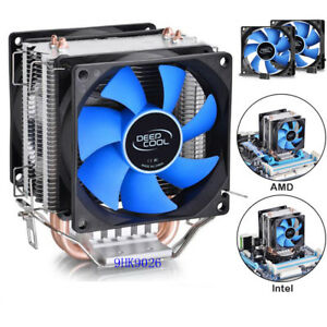 Double Fan Universal CPU Cooler Heatsink & Fan for Intel & AMD
