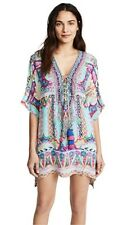 new CAMILLA FRANKS SILK SWAROVSKI WANDERING EYE LACE UP KAFTAN TOP ONE SZ layby
