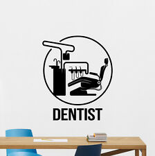 Dentist Wall Decal Dental Clinic Vinyl Sticker Poster Stomatology Decor 64bar