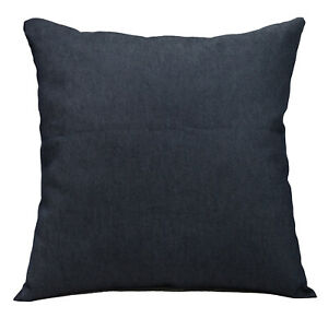 de10a Dark Blue Plain Soft Cotton Jean Denim Cushion Cover/Pillow Case Size(AB)