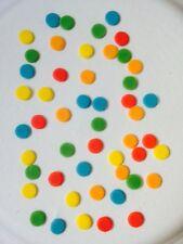 Edible sugarpaste Multi Coloured Dots - Cake Topper X100