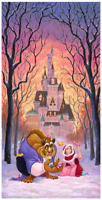 Disney Fine Art Limited Edition Canvas There's Something Sweet-Beauty+Beast