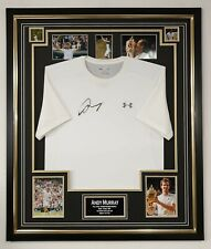 Andy Murray Signed Shirt Autographed Tennis Wimbledon Display with Aftal Dealer
