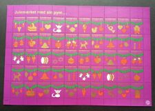 Denmark Christmas Angel Cat 1977 Heart Bell Love (sheetlet) MNH seal stamp