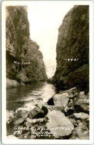 "Texas RPPC Real Photo Postcard ""Grand Canyon of Texas"" HOWARD Photo c1930s"