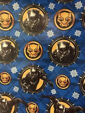 Marvel BLACK PANTHER Christmas Gift Wrapping Paper BLUE Background 70 sq ft roll