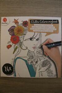 Malbuch für Erwachsene - Glitter Colouringbook - Glitzer-Malbuch (24 Bilder)