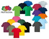Fruit of the Loom Cotton Plain Blank Men's Women's Original Tshirt T-Shirt NEW