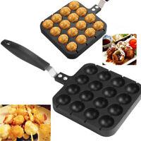 Japanese Takoyaki Maker Grill Pan Cooking Plate Stove 16 holes Baking Kitchen A5