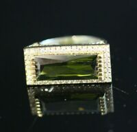 TURKISH HANDMADE EMERALD STERLING SILVER 925K RING SIZE 7 8 9