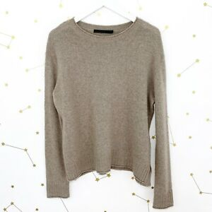 Jenni Kayne Everyday Sweater Size XS Taupe Wool Cashmere Pullover Long Sleeve