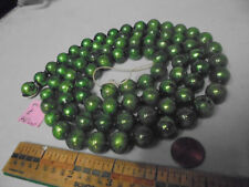 "Christmas Garland Mercury Green, 46"" Long, 1/2"" Beads, 4018 Vintage"