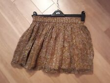 jack wills 8 brown and gold skirt
