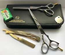 "6"" Professional Hairdressing Scissors Barber Haircutting Shears Set with Razor"