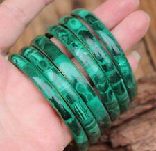Vintage Bangle Bracelet Malachite Brass 70s Hippy Green Retro Jewelry Jewellery