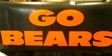 """Chicago Bears """"Go Bears"""" """"Support Out Troops"""" Game Roll Up Banners/Sign NEW"""