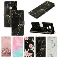 Case for LG K51/ Stylo 6 Marble Pattern Flip Leather Wallet Case Magnetic Cover